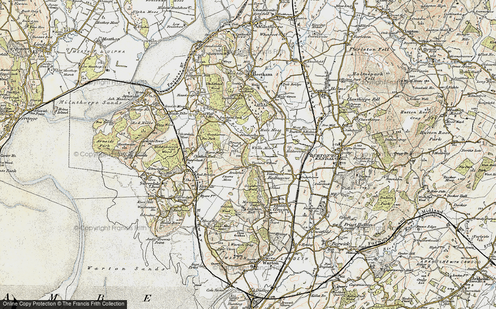 Old Map of Historic Map covering Leighton Ho in 1903-1904