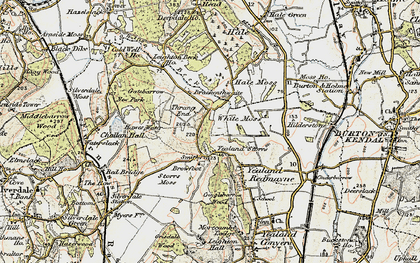 Old map of Leighton Beck in 1903-1904