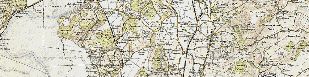 Old map of Yealand Storrs in 1903-1904