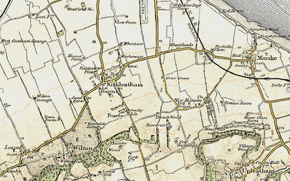 Old map of Yearby in 1903-1904