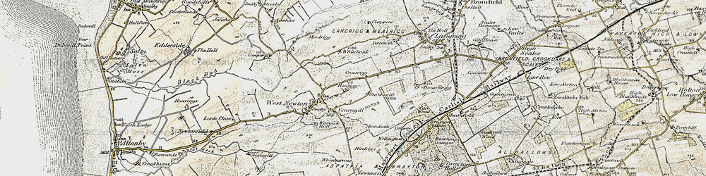 Old map of Yearngill in 1901-1904