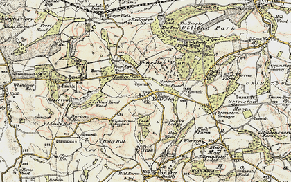 Old map of Yearsley in 1903-1904