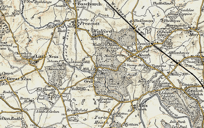 Old map of Adcote Mill in 1902