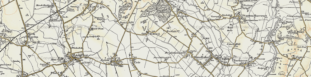 Old map of Yelford in 1897-1899