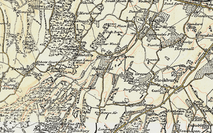 Old map of Yelsted in 1897-1898