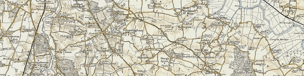 Old map of Yelverton in 1901-1902