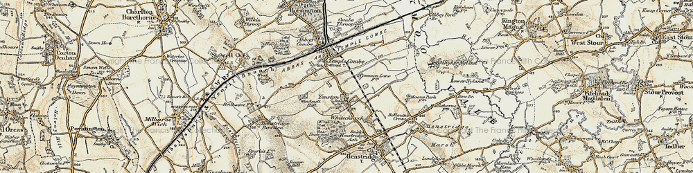 Old map of Yenston in 1897-1909