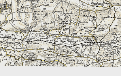 Old map of Yeo Mill in 1900