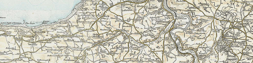 Old map of Yeo Vale in 1900