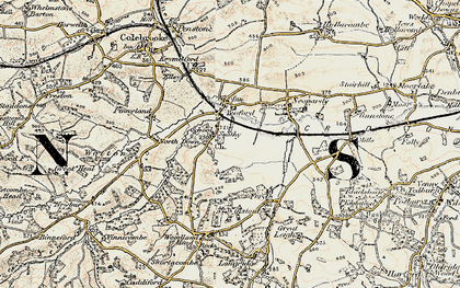 Old map of Yeoford in 1899-1900