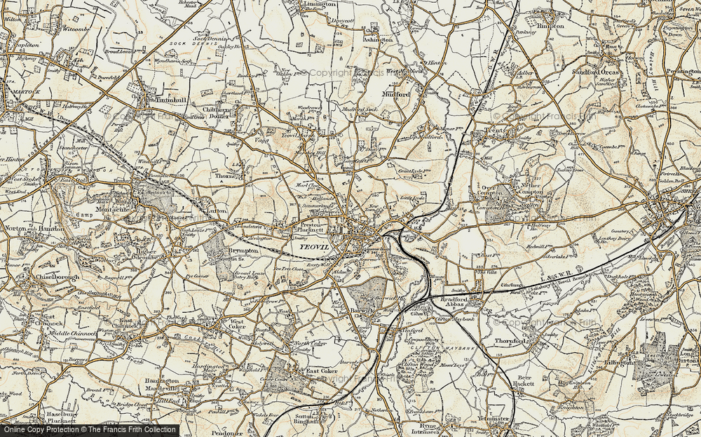 Old Map of Historic Map covering Aldon in 1899