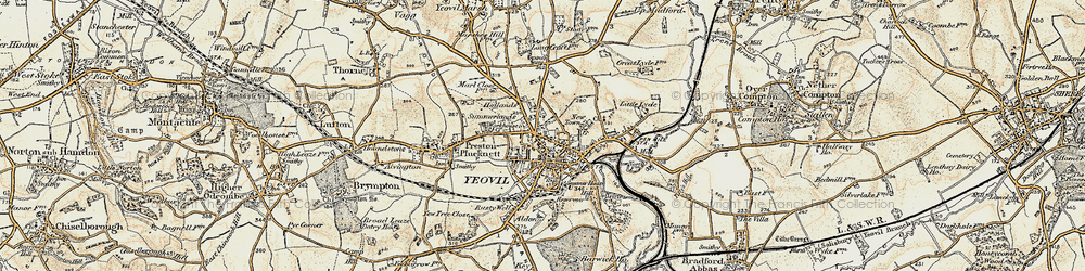 Old map of Aldon in 1899