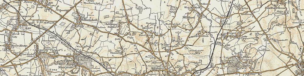 Old map of Yeovil Marsh in 1899