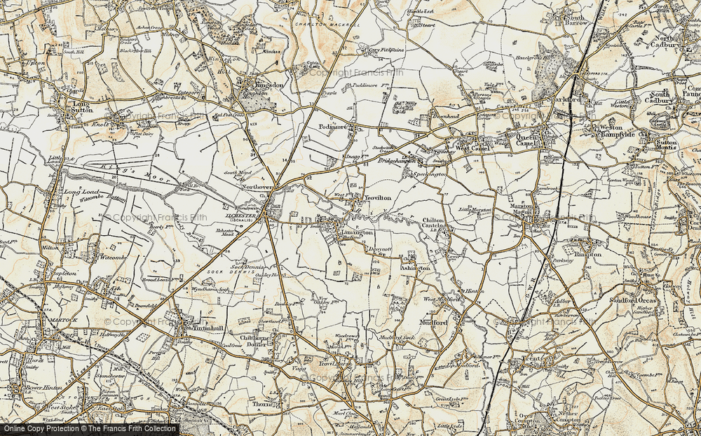 Old Map of Yeovilton, 1899 in 1899