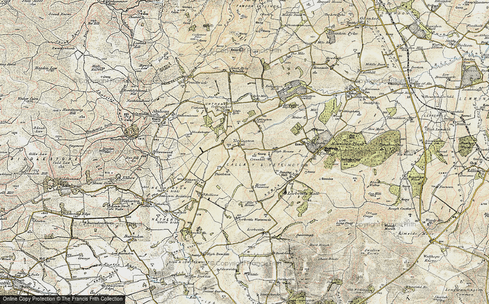 Old Map of Historic Map covering Tod-le-Moor in 1901-1903