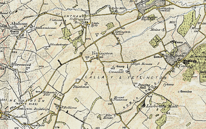 Old map of Yetlington in 1901-1903