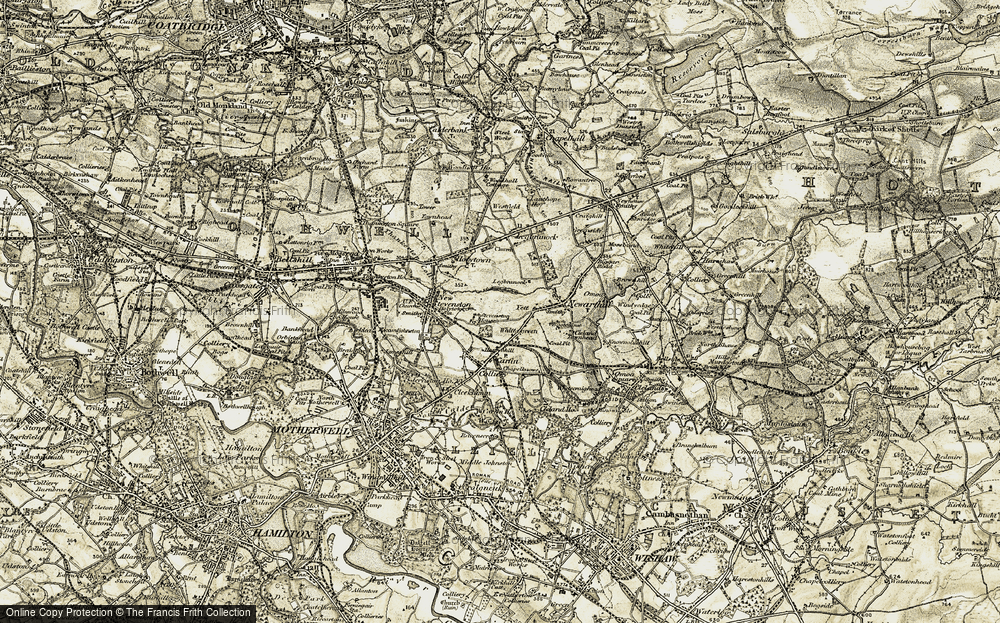 Old Map of Historic Map covering Legbranock Burn in 1904-1905