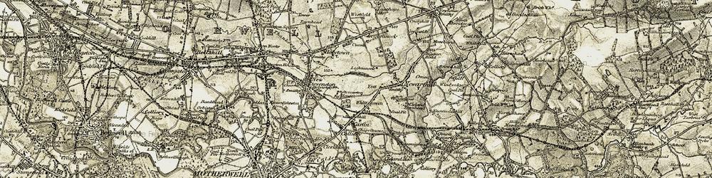 Old map of Legbranock Burn in 1904-1905