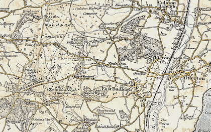 Old map of Hayes Barton in 1899
