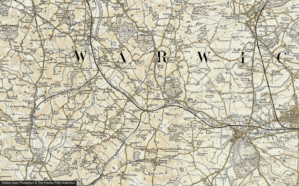 Old Map of Yew Green, 1901-1902 in 1901-1902