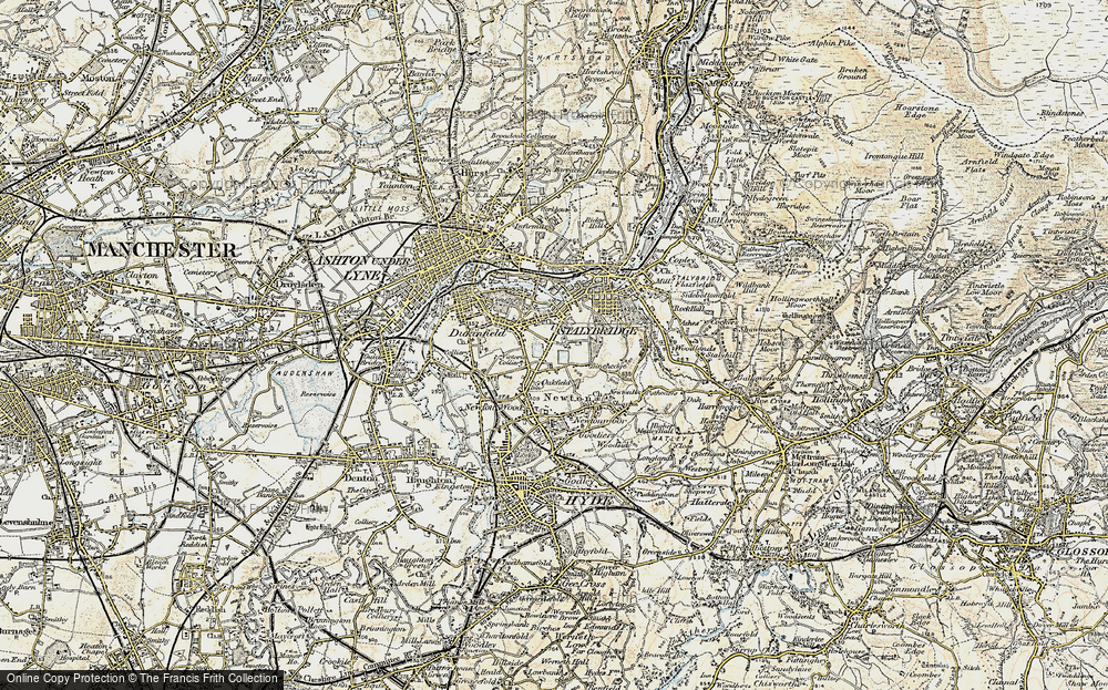 Old Map of Yew Tree, 1903 in 1903