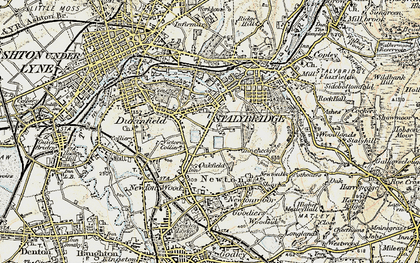 Old map of Yew Tree in 1903