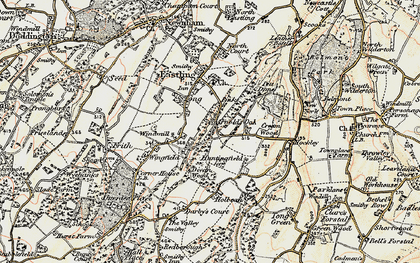 Old map of Yewhedges in 1897-1898