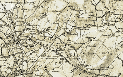 Old map of Yieldshields in 1904-1905