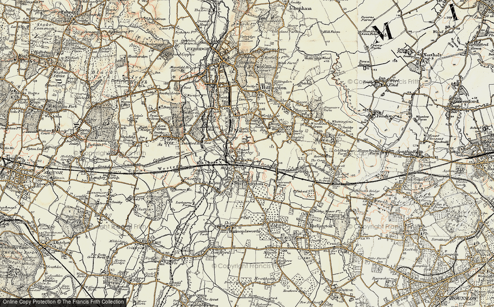 Old Map of Yiewsley, 1897-1909 in 1897-1909