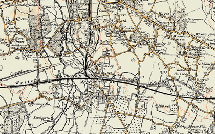 Old map of Yiewsley in 1897-1909