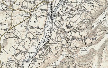 Old map of Ynus-tawelog in 1900-1901