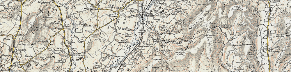 Old map of Ynys-ger-gathan in 1900-1901
