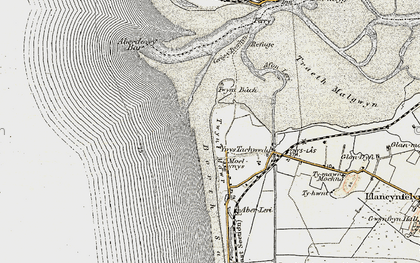 Old map of Aberdovey Bar in 1902-1903