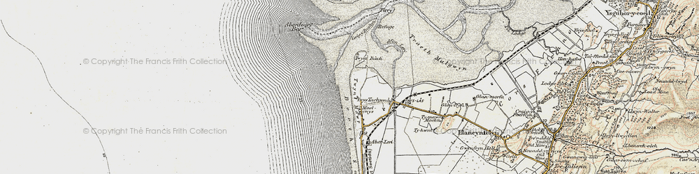 Old map of Ynys Tachwedd in 1902-1903
