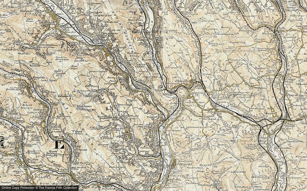 Old Map of Ynysboeth, 1899-1900 in 1899-1900