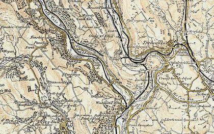Old map of Ynysboeth in 1899-1900