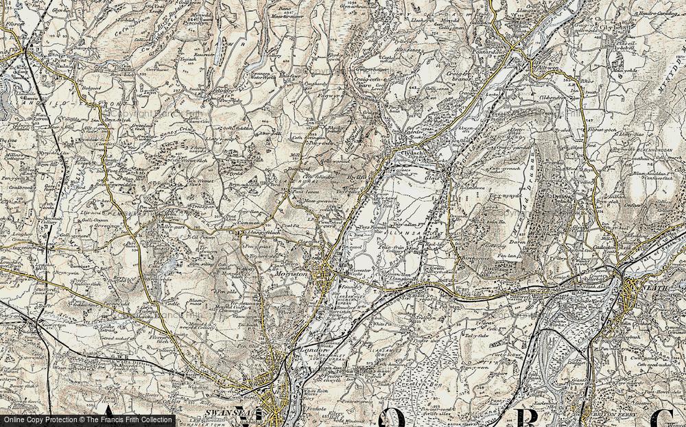 Old Map of Ynysforgan, 1900-1901 in 1900-1901