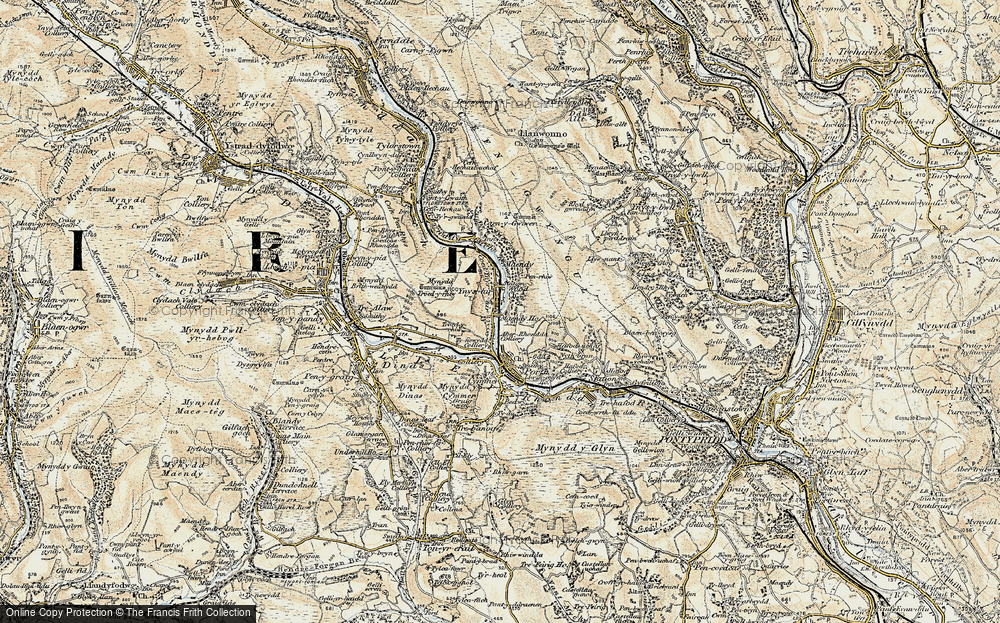 Old Map of Ynyshir, 1899-1900 in 1899-1900