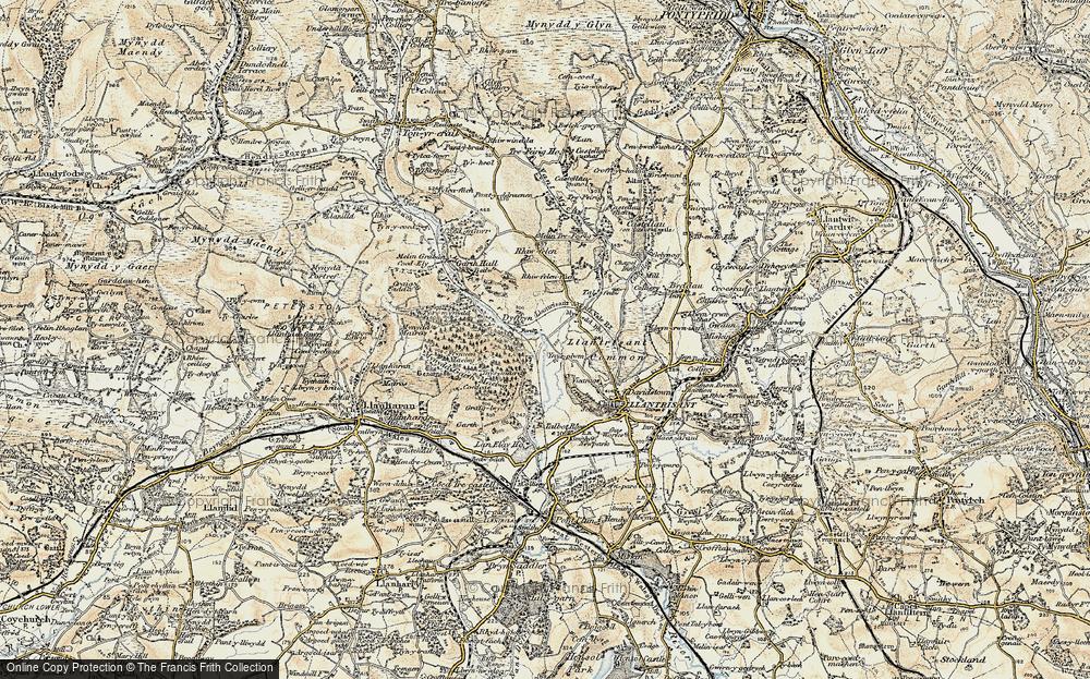 Old Map of Ynysmaerdy, 1899-1900 in 1899-1900