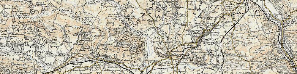 Old map of Ynysmaerdy in 1899-1900