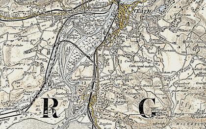 Old map of Ynysmaerdy in 1900-1901