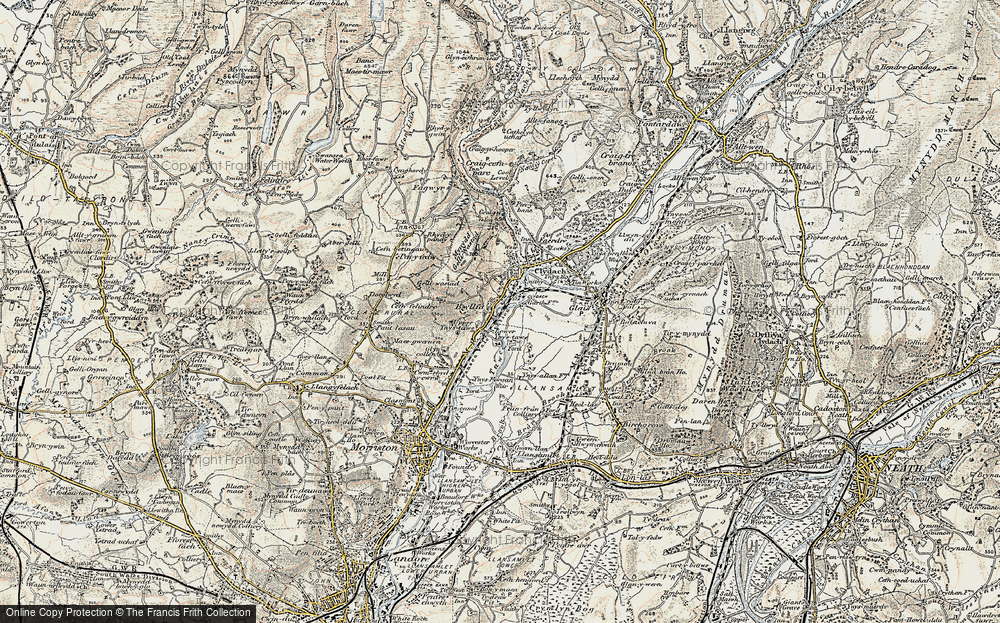 Old Map of Ynystawe, 1900-1901 in 1900-1901