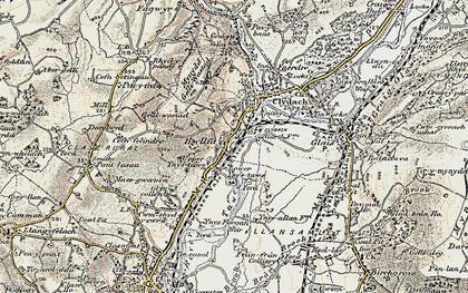 Old map of Ynystawe in 1900-1901