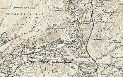 Old map of Ynyswen in 1900-1901