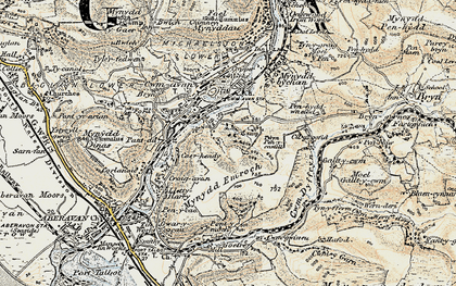 Old map of Ynysygwas in 1900-1901