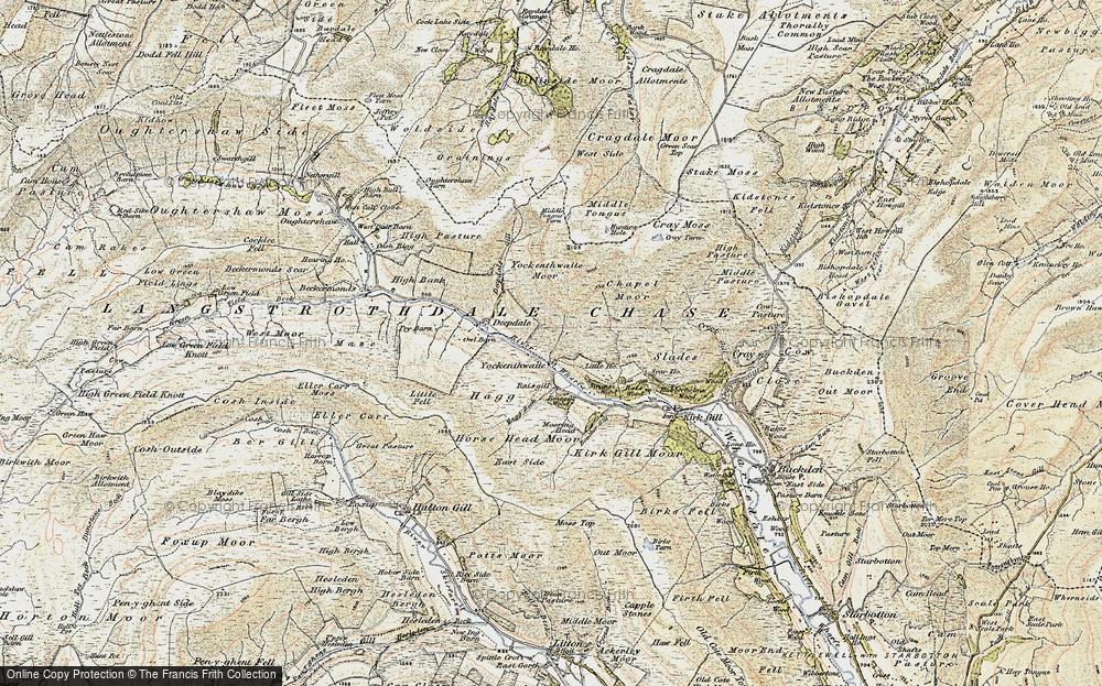 Old Map of Yockenthwaite, 1903-1904 in 1903-1904