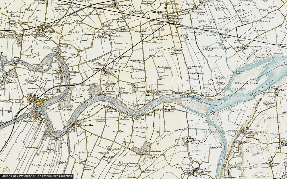Old Map of Yokefleet, 1903 in 1903