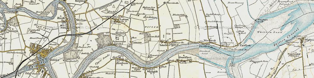 Old map of Yokefleet in 1903