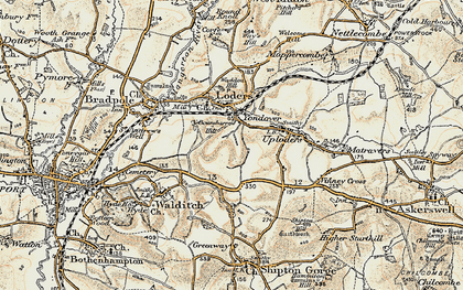 Old map of Yondover in 1899