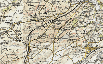 Old map of York in 1903